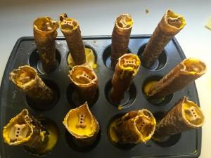 Prepared snacks! Tracheas stuffed with yumminess!